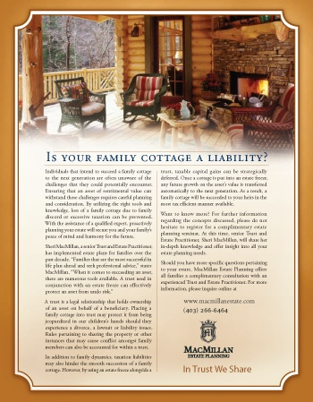 Is your family cottage a liability?