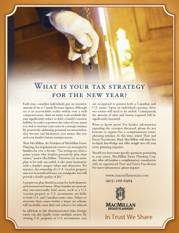 What is Your Tax Strategy for the New Year?