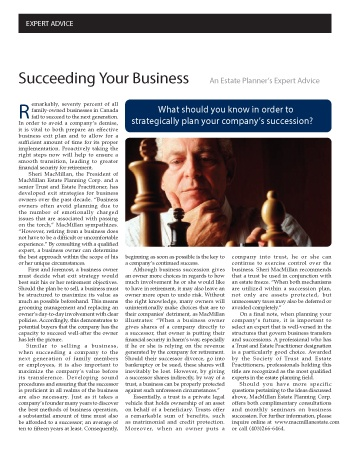 Succeeding Your Business