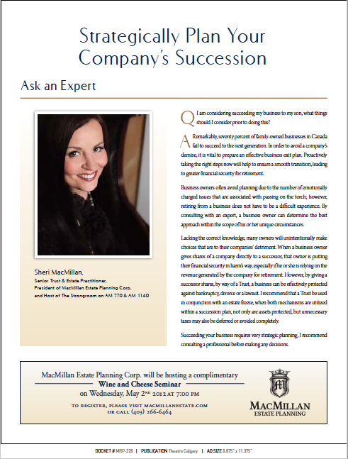 Strategically Plan Your Company's Succession